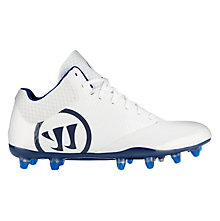 Burn 9.0 Mid Cleat, White with Blue