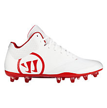 Burn 9.0 Mid Cleat, White with Red