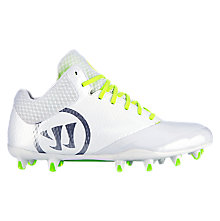 Burn 9.0 Mid Cleat, White with Grey