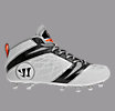 Youth Burn Speed 6.0 Jr. Cleat, White with Black