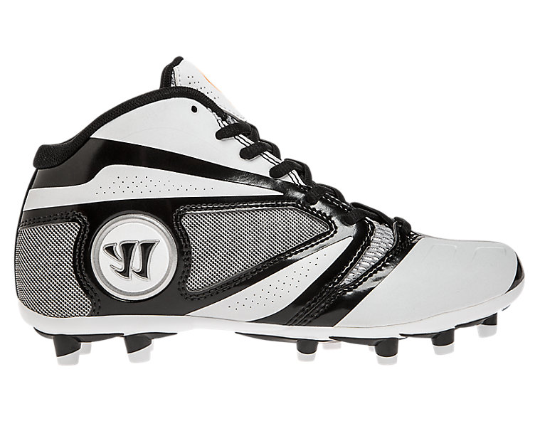 Burn 7.0 Jr. Cleat, White with Black