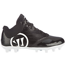 Burn 9.0 Jr. Cleat, Black with White