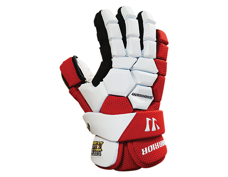 Buzzkill Goalie Glove, Red with White