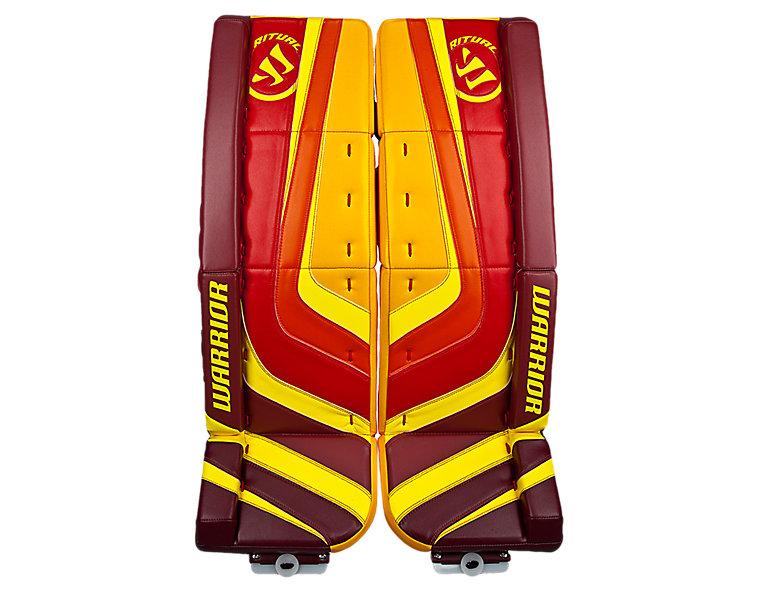 Ritual Custom Pro Leg Pad, Red with Yellow & Orange