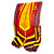 Ritual Custom Pro Leg Pad, Red with Yellow & Orange