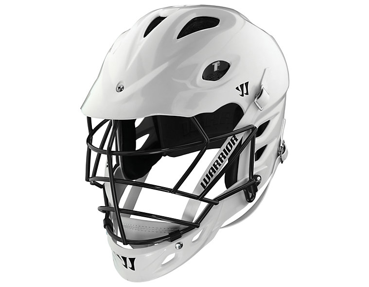 TII Custom Painted Helmet, White with Black