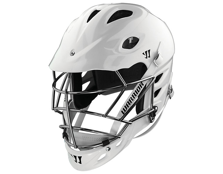 TII Custom Painted Helmet, White with Chrome
