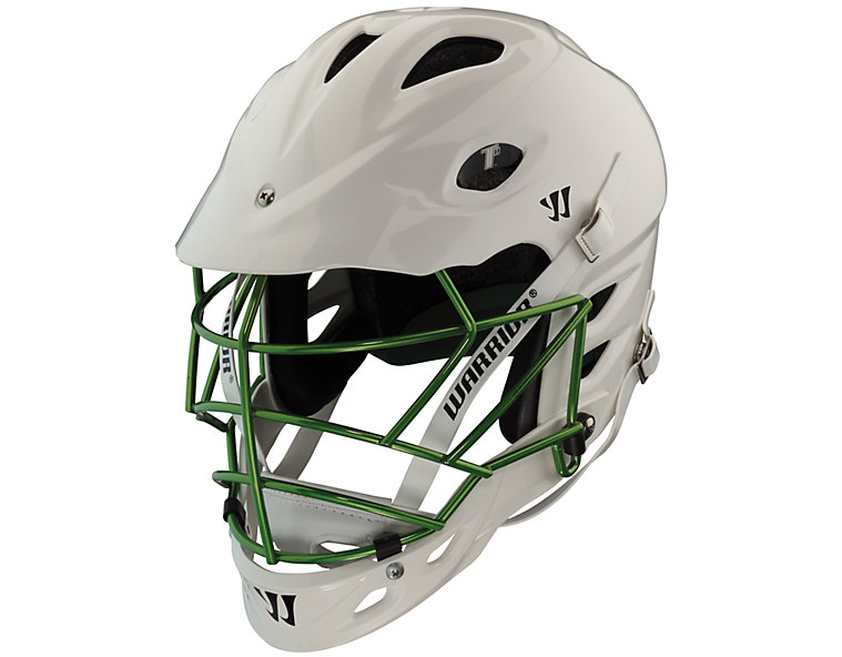 TII Custom Painted Helmet, White with Forest Green