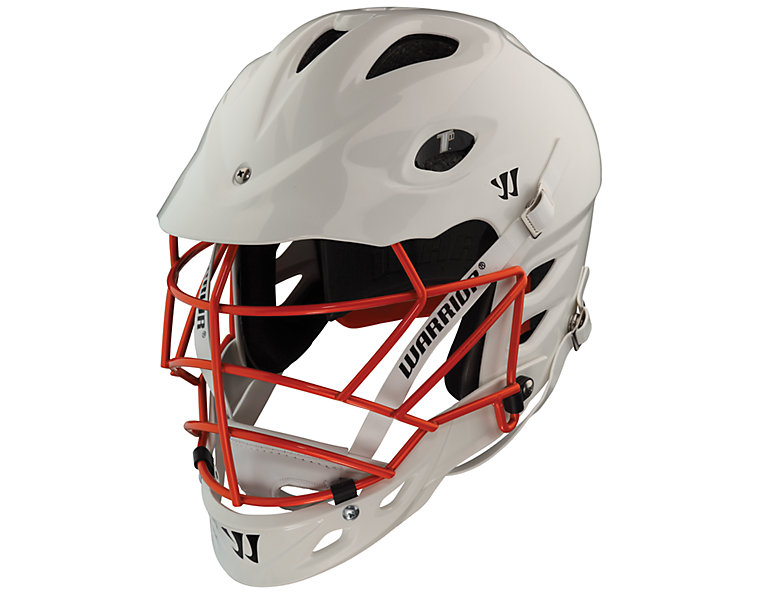TII Custom Painted Helmet, White with Orange