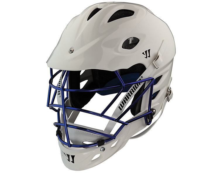 TII Custom Painted Helmet, White with Royal Blue