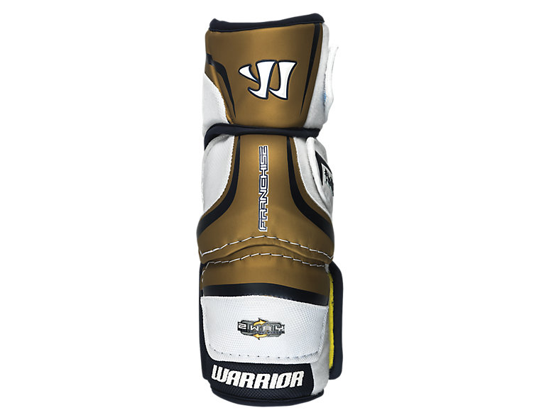 Franchise Elbow Pad, White with Gold & Black