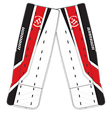 Ritual G2 Pro Leg Pad, White with Black & Red