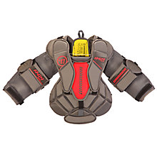 G4 YTH Chest & Arm, Black with Red