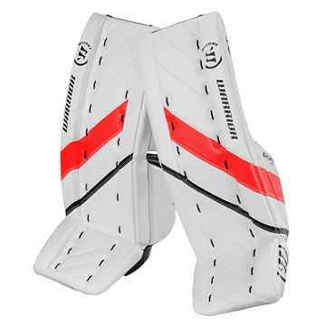 G4 JR Leg Pad, White with Black & Red
