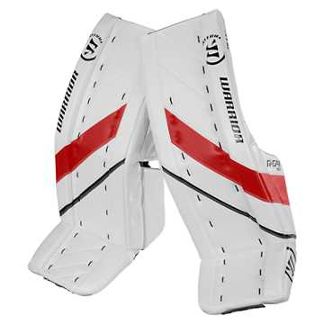 G4 SR Leg Pad, White with Black & Red