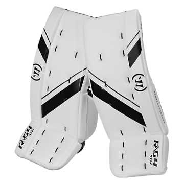 G4 YTH Leg Pad, White with Black