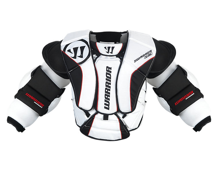 Swagger Chest Protector, White with Black & Red