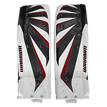 Fortress Leg Pads, White with Black & Red