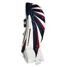 Fortress Leg Pads, White with Navy & Red