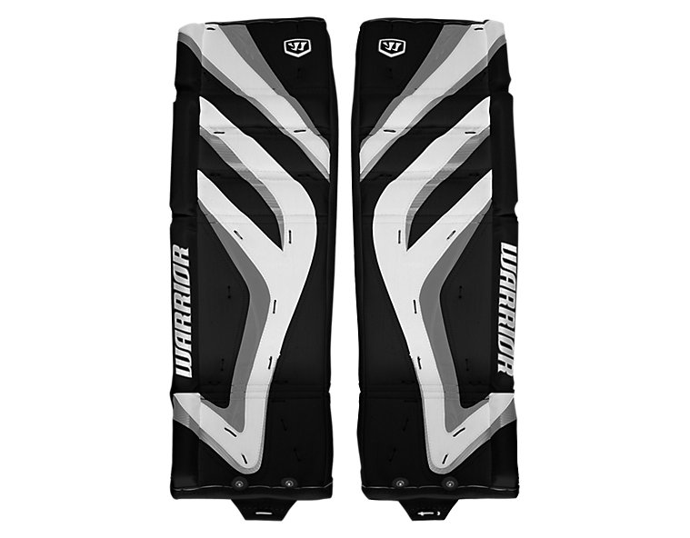 Messiah Leg Pads, Black with White & Silver