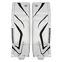 Messiah Leg Pads, White with White & Black