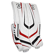 Ritual Sr & Int Leg Pad, White with Black & Red