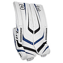Ritual Sr & Int Leg Pad, White with Black & Royal Blue