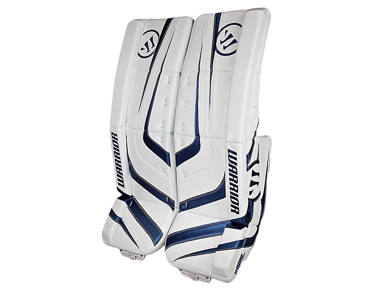 Ritual Pro Leg Pad, White with Royal Blue