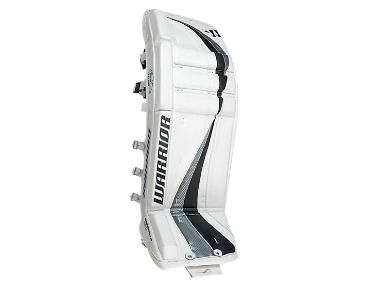 Swagger Leg Pads, White with Black & Silver