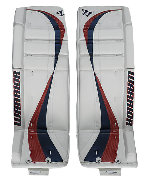 Swagger Leg Pads, White with Navy & Red