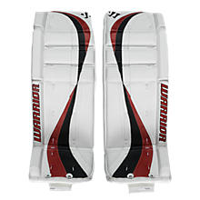 Swagger Leg Pads, White with Red & Black