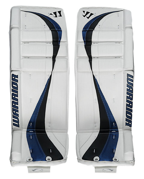 Swagger Leg Pads, White with Royal Blue & Black