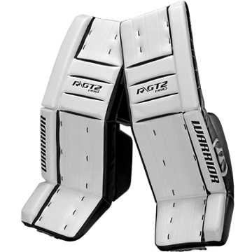 GT2 Pro Classic Leg Pad, White with Black