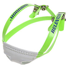 Headstrong Chin Strap, Neon Green with White & Royal Blue