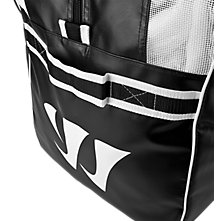 Warrior Pro Bag, Black with White