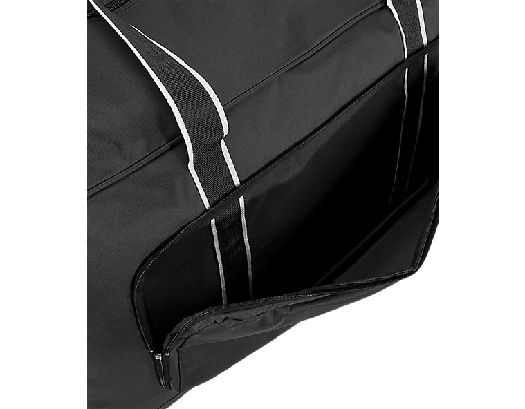Team Duffel Bag Large, Black with White
