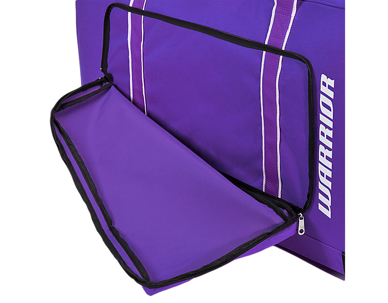 Team Goalie Duffel Bag, Purple with White