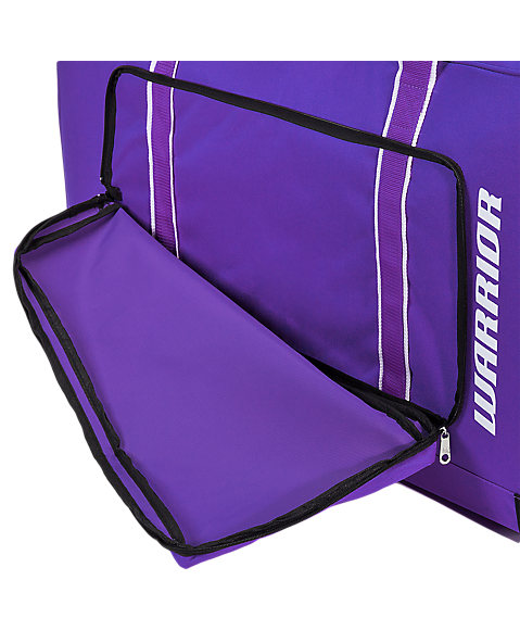 Team Goalie Duffel Bag, Purple with White