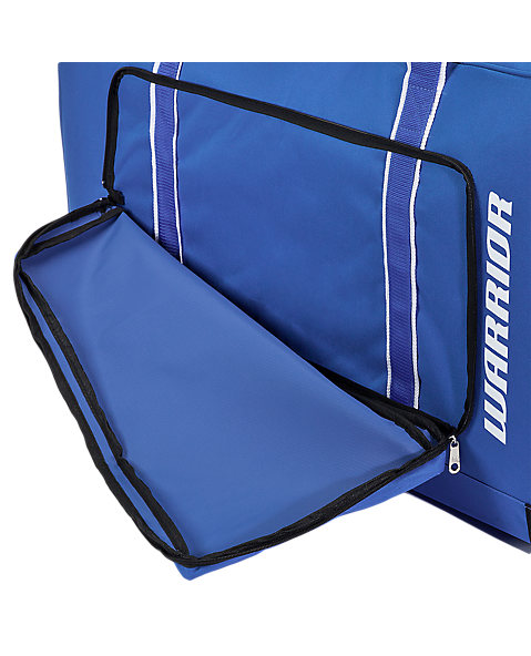 Team Goalie Duffel Bag, Royal Blue with White
