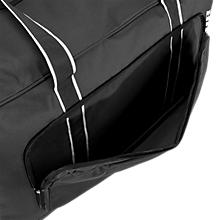 Team Duffel Bag Medium, Black with White