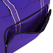 Team Duffel Bag Medium, Purple with White