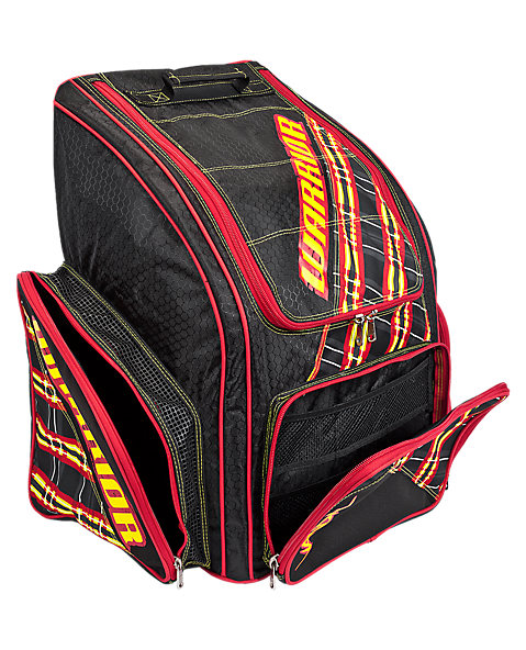 Vandal Carry Backpack, Black with Yellow & Red