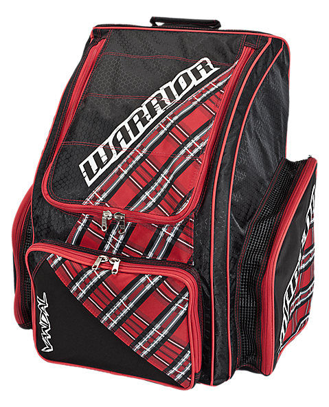 Vandal Roller Backpack, Black with Red & Grey
