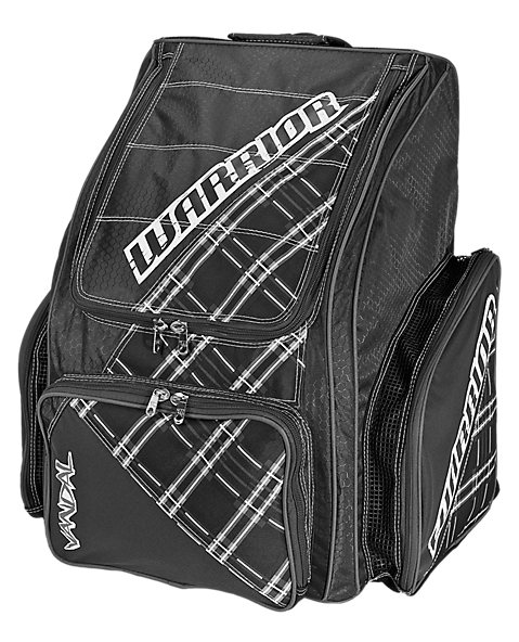 Vandal Roller Backpack, Black with White & Grey