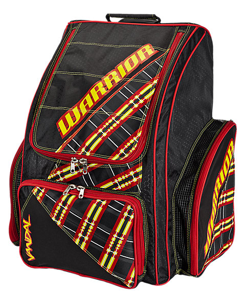 Vandal Roller Backpack, Black with Yellow & Red