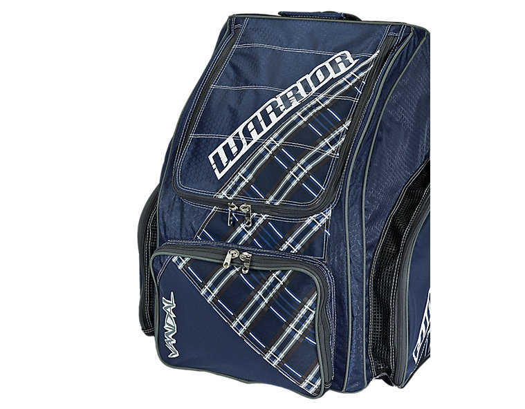 Vandal Roller Backpack, Navy with White & Grey