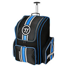 Covert Roller Backpack, Black with Blue & Silver