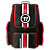 Covert Roller Backpack, Red with Black & White