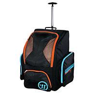 Covert QR Roller Backpack, Black with Blue & Orange
