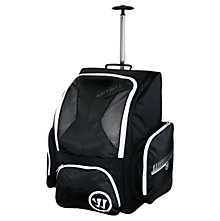 Covert QR Roller Backpack, Black with White & Silver